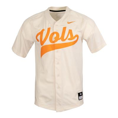 Tennessee Nike Vol Script Cream Baseball Jersey