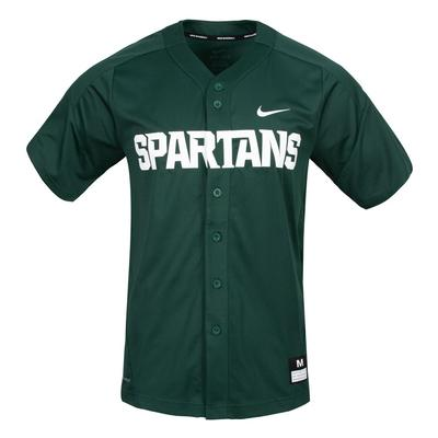 Michigan State Nike Baseball Jersey