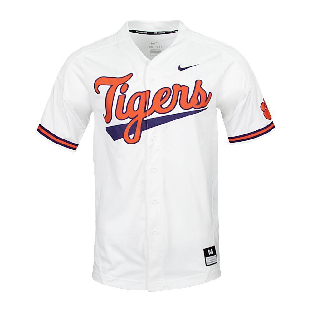 Clemson Nike Tigers Script Baseball Jersey