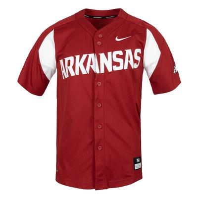 Arkansas Nike Baseball Jersey