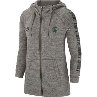 Michigan State Nike Women's Gym Vintage Full Zip