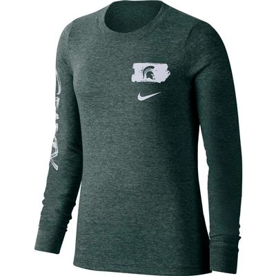 Michigan State Nike Women's Tri-Verb Tee