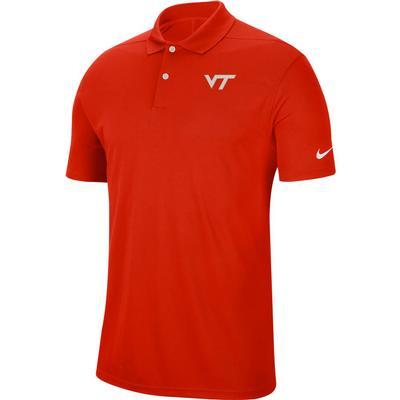 Virginia Tech Nike Golf Dry Victory Solid Polo ORANGE