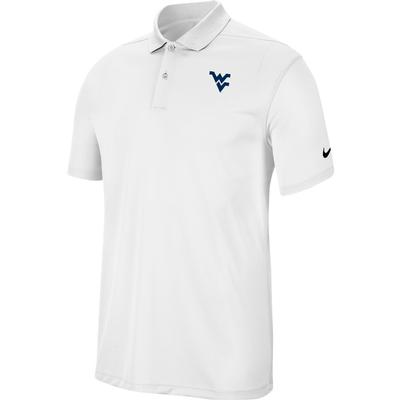 West Virginia Nike Golf Dry Victory Solid Polo WHITE