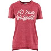 Ncst Pressbox Women's Juniper Script Vintage Wash Tee