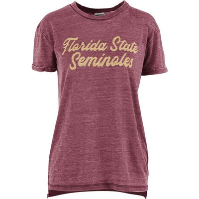 FSU Pressbox Women's Juniper Script Vintage Wash Tee