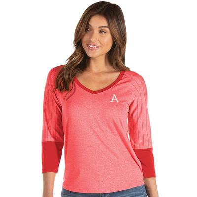 Arkansas Antigua Women's Energy 3/4 Sleeve V-Neck