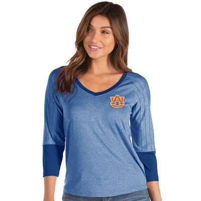 Auburn Antigua Women's Energy 3/4 Sleeve V-Neck