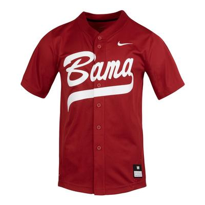 Alabama Nike Bama Script Softball Jersey