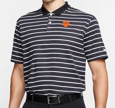 Clemson Nike Golf Dry Victory Stripe Polo BLACK