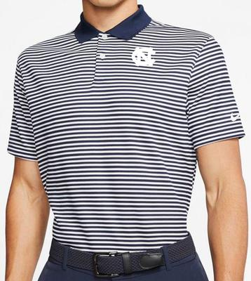 UNC Nike Golf Dry Victory Stripe Polo