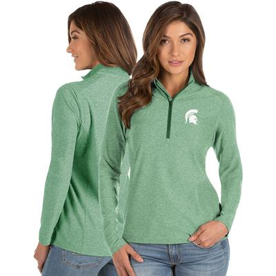 Michigan State Antigua Women's 1/4 Zip Pullover