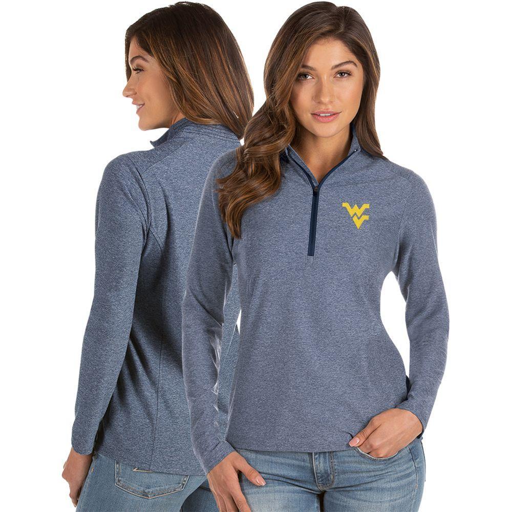 West Virginia Antigua Women's Spirit 1/4 Zip Pullover