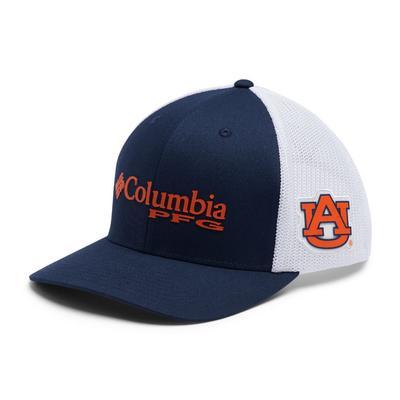 Auburn Columbia PFG Mesh Snap Back Hat