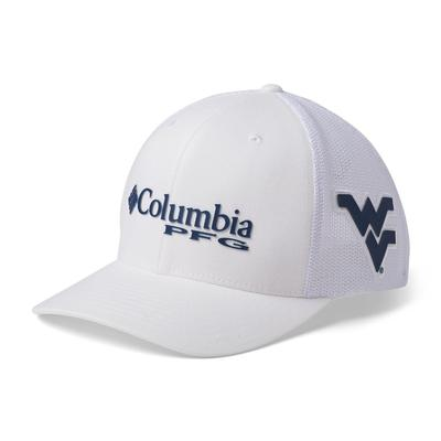 West Virginia Columbia PFG Mesh Snap Back Hat