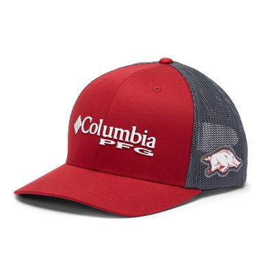 Arkansas Columbia PFG Mesh Snap Back Hat