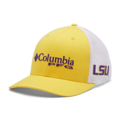 LSU Columbia PFG Mesh Snap Back Hat