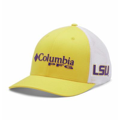 LSU Columbia PFG Mesh Snap Back Hat