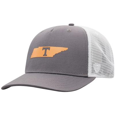 Tennessee Men's There Silicone State Trucker Hat
