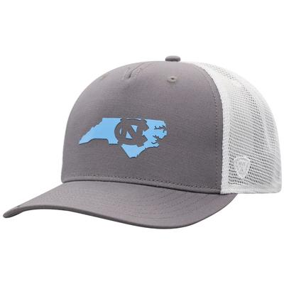UNC Men's There Silicone State Trucker Hat