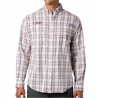 LSU Columbia Super Tamiami Long Sleeve Shirt