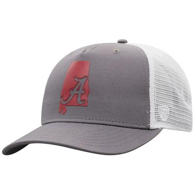 Alabama Men's There Silicone State Trucker Hat