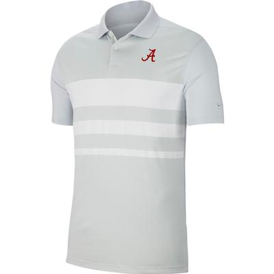 Alabama Nike Golf Dry Vapor Stripe Polo