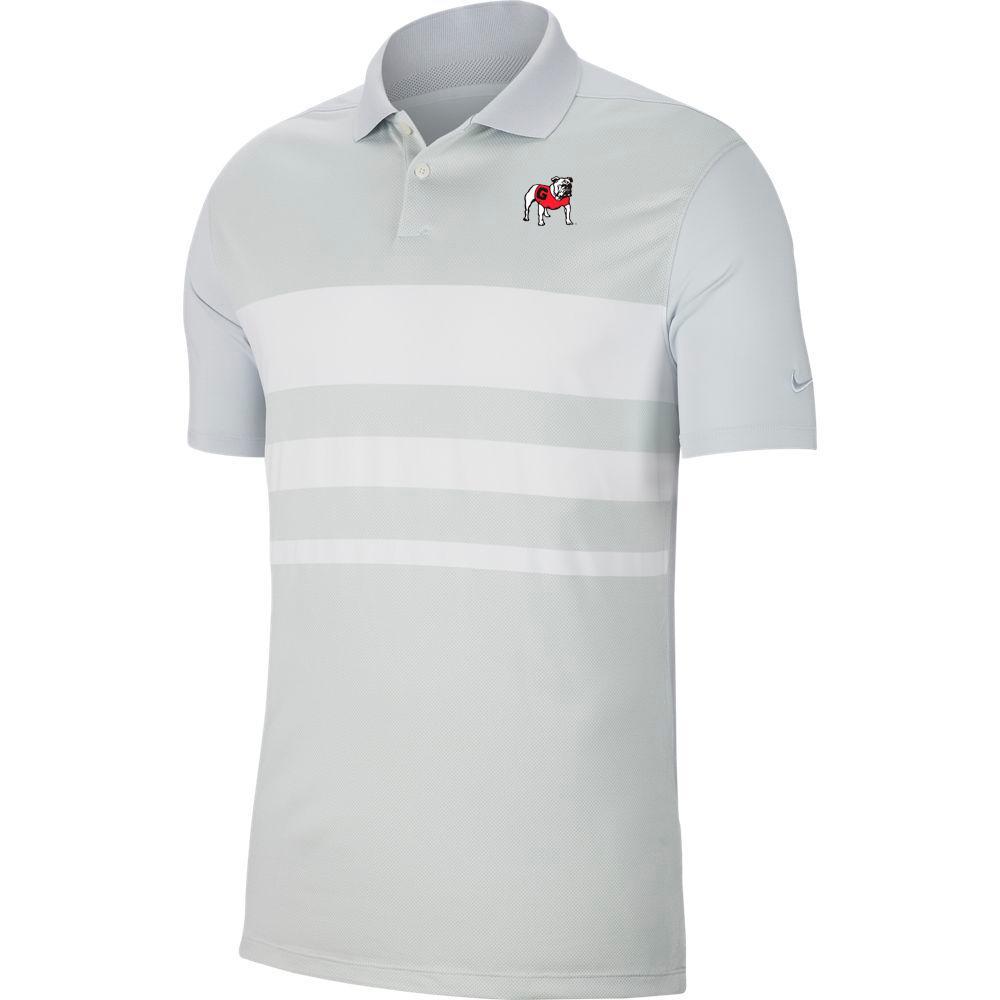 Georgia Nike Golf Dry Vapor Stripe Polo