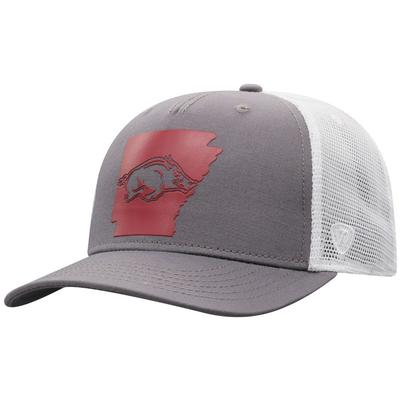 Arkansas Men's There Silicone State Trucker Hat