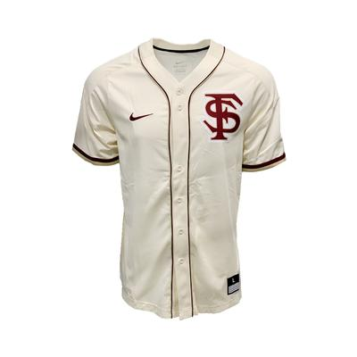 Florida State Nike Cream Baseball Jersey