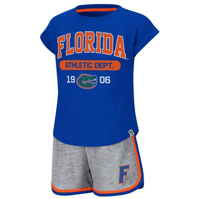 Florida Colosseum Toddler Girl Charge It Short Set