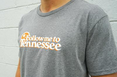 Volunteer Traditions Follow me to Tennessee Heather Tee