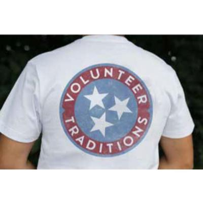 Tennessee Volunteer Traditions Tri-Star White Pocket Tee