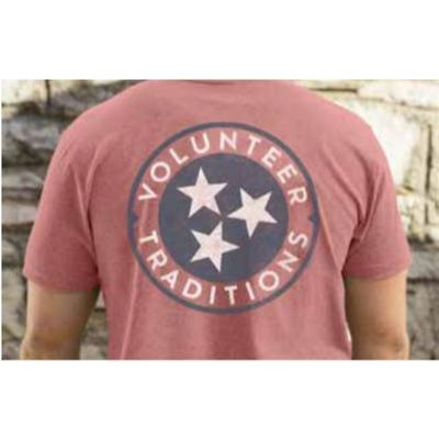Tennessee Volunteer Traditions Tri-Star Red Pocket Tee