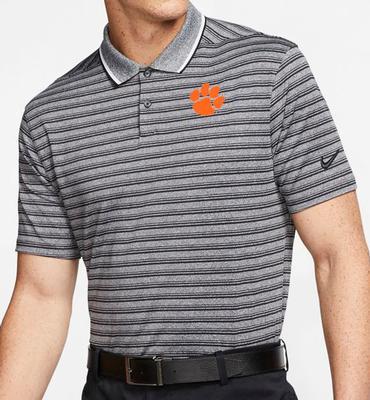 Clemson Nike Golf Dry Vapor Control Stripe Polo