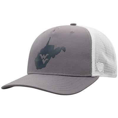 West Virginia Men's There Silicone State Trucker Hat