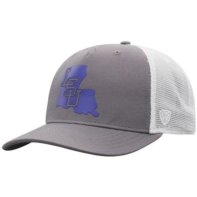 LSU Men's There Silicone State Trucker Hat