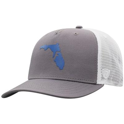Florida Men's There Silicone State Trucker Hat