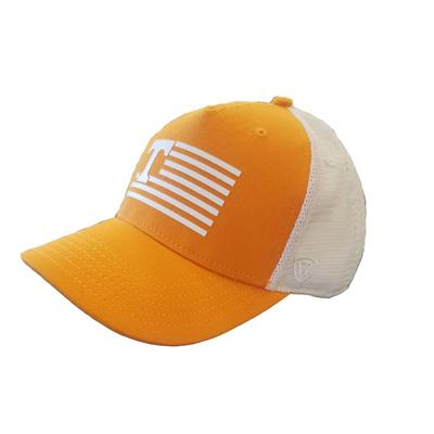 Tennessee Men's Here Silicone Striped Trucker Hat
