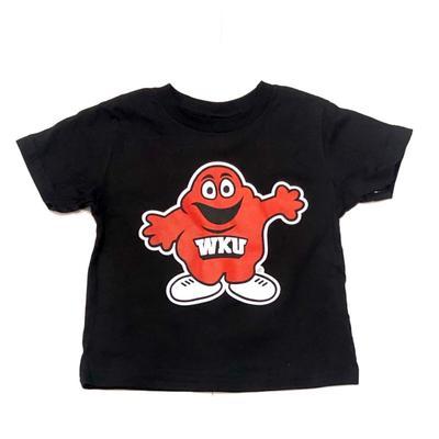 Western Kentucky Gen2 Toddler Standing Mascot Black Tee