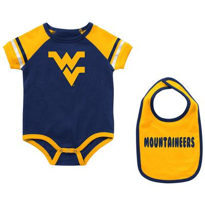 West Virginia Colosseum Infant Warner Onesie and Bib