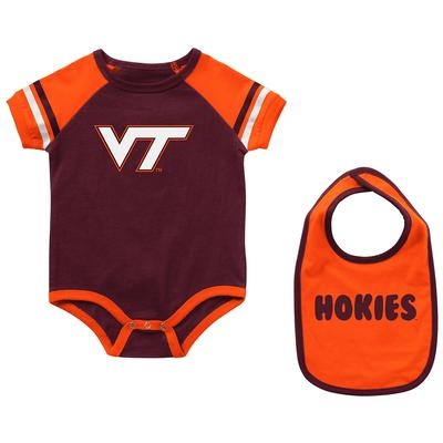 Virginia Tech Colosseum Infant Warner Onesie and Bib