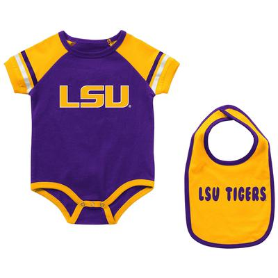 LSU Colosseum Infant Warner Onesie and Bib