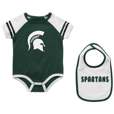 Michigan State Colosseum Infant Warner Onesie and Bib