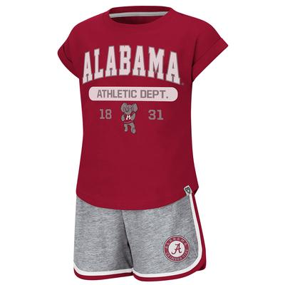 Alabama Colosseum Toddler Girl Charge It Short Set