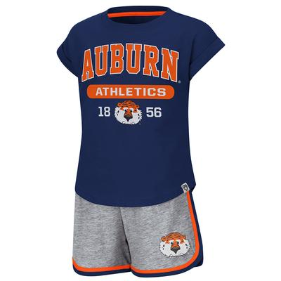 Auburn Colosseum Toddler Girl Charge It Short Set