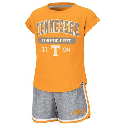 Tennessee Colosseum Toddler Girl Charge It Short Set