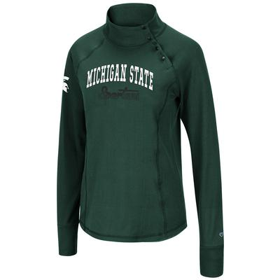 Michigan State Colosseum Women's Galentine 1/4 Snap Pullover