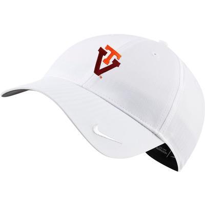 Virginia Tech Nike Golf Women's H86 Adjustable Cap WHITE