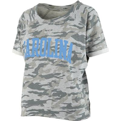 UNC Pressbox Camo Splash Tee